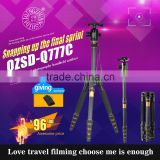 Q777C Professional portable carbon fiber weifeng victory zomei sinno roller background camera tripod fit for DSLR digital camera