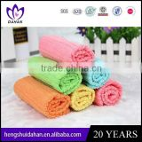 small size polyester fabric plain dyed solid color microfiber dish cloth household cleaning kitchen textile wholesaler