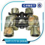 Best selling 8-24x40 binoculars for sale,rubber eyecup binoculars