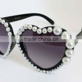Heart-shaped fashion pearl OEM sunglasses
