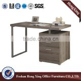 Metal legs wooden computer desk for children,easy install office desk in office furniture (HX-5N054)