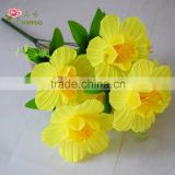 7 heads giant artificial silk daffodils flowers