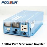 Battery Voltage LED Display 1000W Pure Sine Wave Inverter 12V 24V 48V DC to 110V 230V AC, DC to AC Solar power inverter