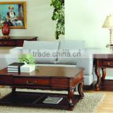 CF30045 European Unique Carved Coffee End Sofa Table & Vanity Table with mirror & European Wood Furniture