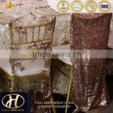 CHAMPAGNE SEQUIN CHAIR CAP cover FOR WEDDING                                                                         Quality Choice