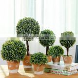 high simulation beautiful table decoration Artificial topiary boxwood grass ball bonsai in best price