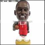 Custom bobble head doll for player, Plastic basketball player bobble head making supplier