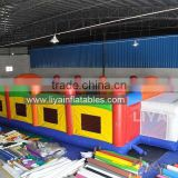 PVC tarpaulin well material best price CE standard size new design inflatable top quality football play fields