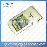 promotional custom brass etched money clip
