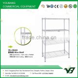 2015 hot sell NSF 100KGS silver color plastic powder light duty 4 layer warehouse wire shelf (YB-HS003)