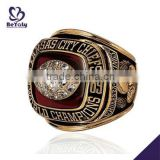 Wholesale customized brass Championship ring 1969 Kansas City Chiefs World Champions ring