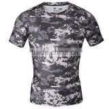 cheap custom sublimation camo baseball jerseys wholesale compression quick dry men cross fit tee tops