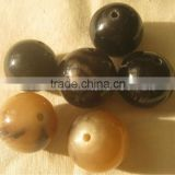 Buffalo horn beads, horn buttons, horn components for jewelry