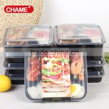 Eco-Friendly China factory 36oz meal prep Plastic Bento lunch box 3 Compartment plastic FDA Approved leak resistant