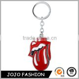 Music Statement Rock Band Keyring The Rolling Stones Red Tongue Keychain Enamel Key chain