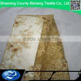 High quality african gold elegant applique tulle lace sequin fabric for party dress