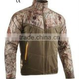 Rechargeable Li-ion Battery Heated Camouflage Hunting Jacket, Rechargeable Camouflage Hunting Jacket