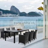 Outdoor UV-resistant Dining Furniture/ Garden PE Wicker Dining Sets of 7