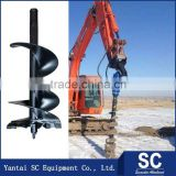 Hydraulic Auger Excavator /Earth Auger SC2500 For 1T-2.5T Excavator DOOSAN DH130W For Tree Planting