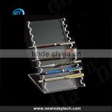 customized clear acrylic pen/pencil stand display rack