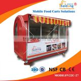 Best selling !Stainless steel mobile coffee vending cart-hot dog vending cart design