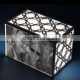 acrylic photo frame with fashion LED light power Shenzhen factory acrylid frame in black