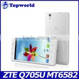 wholesale mobile phone 5.7 inch ZTE Q705U Android 4.2 MTK6582 quad core 1.3GHz 1GB RAM 4GB ROM SmartPhone Cheap