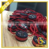 custom brand embossed logo plastic hang tag string for garment