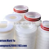 food grade PP/PES pleated filter cartridge for water/juice/wine/beverage/beer/drinking making with good price