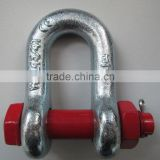 Various size galvanized carbon steel forged d shackles