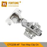 Professional supplier furniture concealed two way door hinge clip on