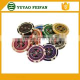 plastic board game chips 11.5g poker chips with custom sticker