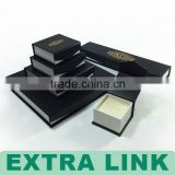 magnet closure black color golden hot stamping earring holder jewelry series box