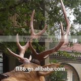Decorative factory custom OEM/ODM plastic artificial deer antler