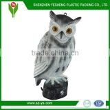 Plastic simulation owl decoy, owl decoys lowes for patio,lawn and garden