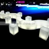 Fashionable led furniture sofa for bar and restaurant led plastic chair led bar chair bar lounge chairs