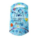 Paper Party Gift Bags Blue Crown Pattern 24.7cm x 13.6cm
