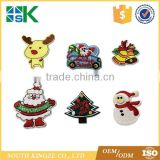 6pcs/set embroidered cloth affixed Santa Claus Christmas Series ironing adhesive stickers patches