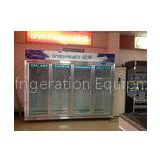R404a Sliding Glass Door Freezer 1200L With Dynamic Cooling