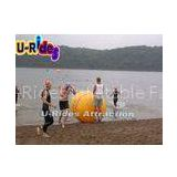 Seaside Inflatable Water Games Floating Buoy Cylinder Shape With Silk Printing