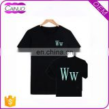 Wholesale plain black tshirts printing,custom bulk blank tshirt no label