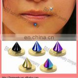 Hot selling magnetic fake labret lip ring non-piercing body jewelry