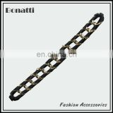 new design gold aluminum chain with black ribbon