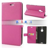 Wholesale Lichee Pattern Magnetic Flip Stand Wallet Leather Case Waterproof Case for Nokia Lumia 1520