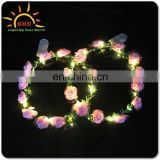pretty led string lights flower headband,new design Glow hawaiian leis flower