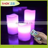 moving wick LED candle with remote control dancing flame