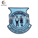 Cheap cutom school uniform embroidery badge by TAJIMA machine