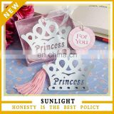 crown princess bookmark baby shower souvernir gifts