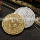 Factory wholesale zinc alloy stamp gold silver copper metal souvenir bitcoin bit coin