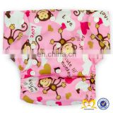 Wholesale New Fashion Adult Baby Diaper Clever Little Monkey Cloth Diapers Babies ,One Size Fits All Cloth Nappy